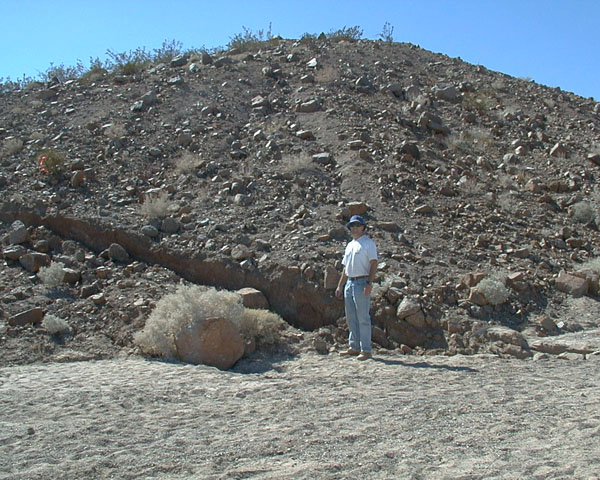 Surface rupture from Oct 16, 1999 M7.1 Hector Mines earthquake