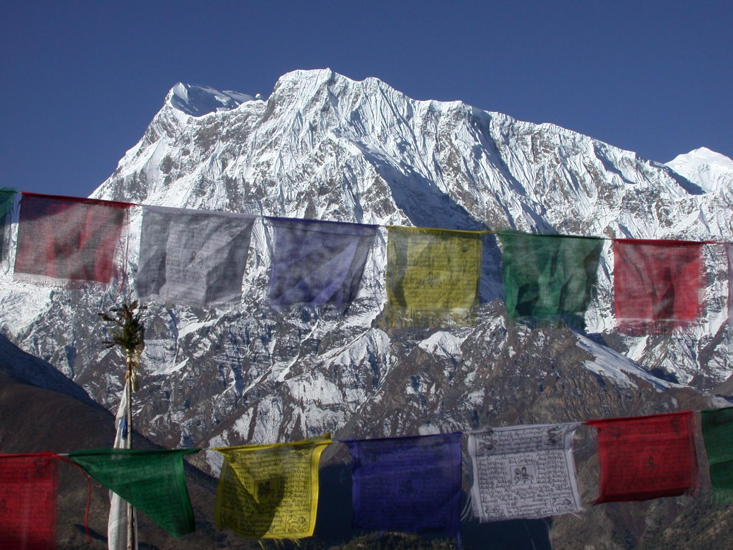 North face of the central Himalaya, where the rainshadow meets the snowline